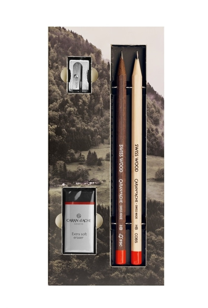 Gift Pack 2 Swiss Wood Pencils with...