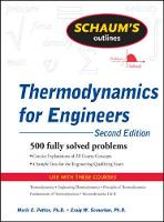 Schaum's Outline of Thermodynamics ...
