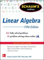 Schaum's Outline of Linear Algebra:...