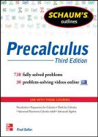 Schaum's Outline of Precalculus: 618...