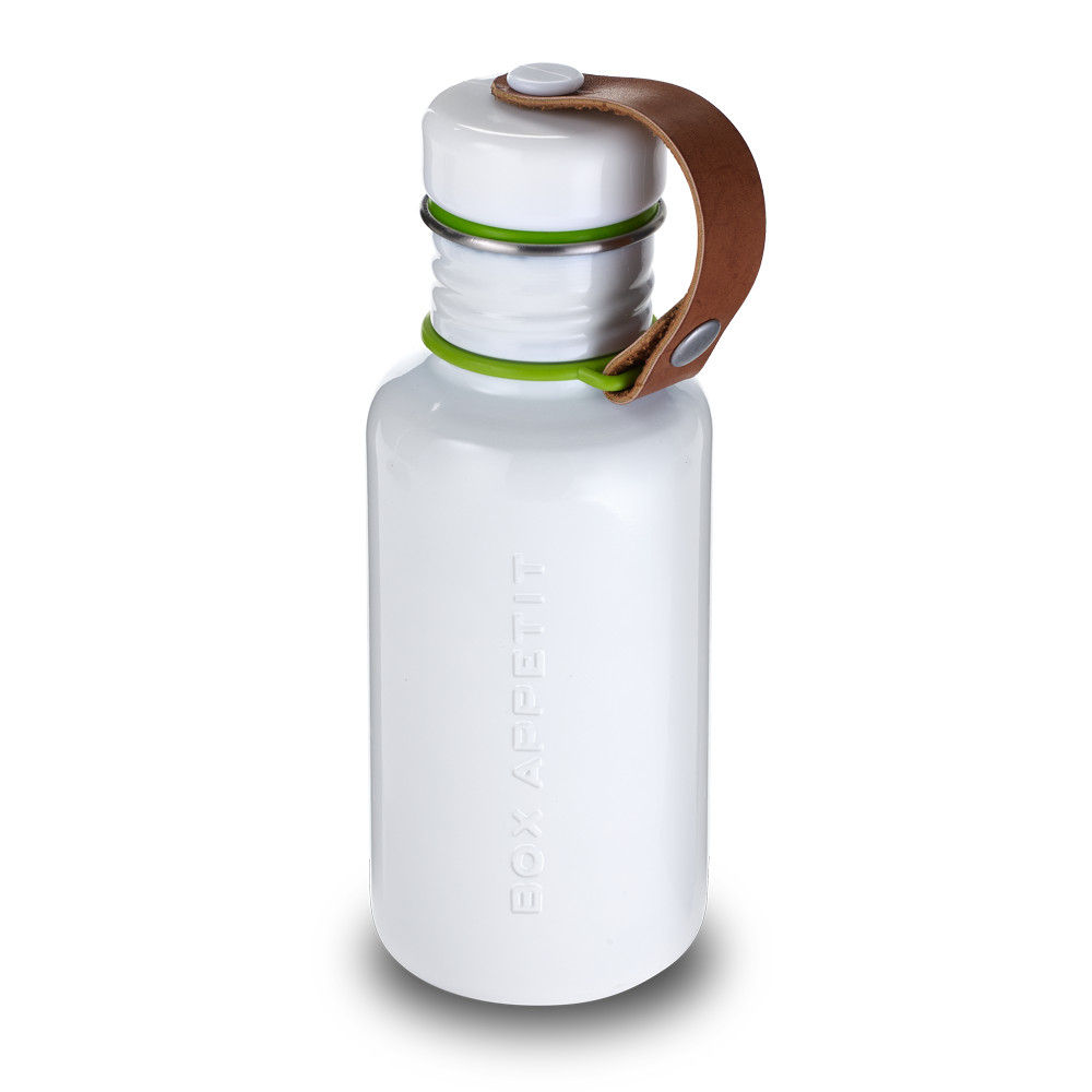 Water Bottle - White Stainless Steel