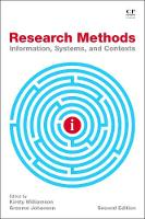 Research Methods: Information,...