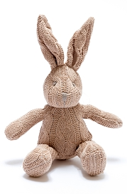 Cable Knit Small Bunny Rattle