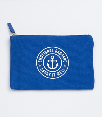 Emotional Baggage Blue Pouch