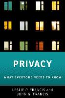 Privacy: What Everyone Needs to Know (R)