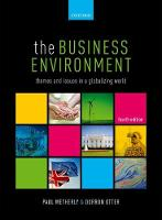 The Business Environment: Themes and...