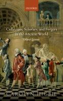 Collectors, Scholars, and Forgers in...
