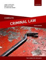 Complete Criminal Law: Text, Cases,...
