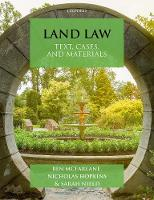 Land Law: Text, Cases & Materials