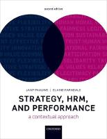 Strategy, HRM, and Performance: A...