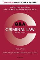 Concentrate Q&A Criminal Law: Law...