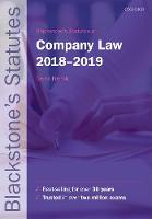 Blackstone's Statutes on Company Law...