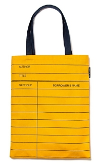Library Tote Bag Yellow