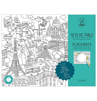 Coloring Placemats - Atlas