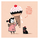 You Deserve Good Things Greetings Card