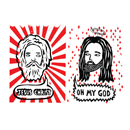 God Meets Jesus Greeting Card