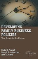 Developing Family Business Policies:...