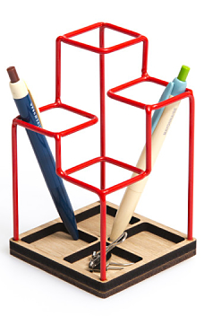 Sketch Desk Tidy Red
