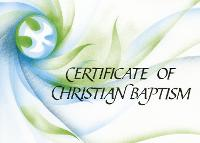 Ecumenical Certificate of Baptism