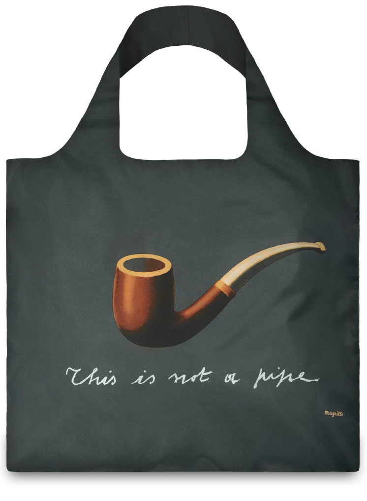 Treachery of Images by Rene Magritte Bag