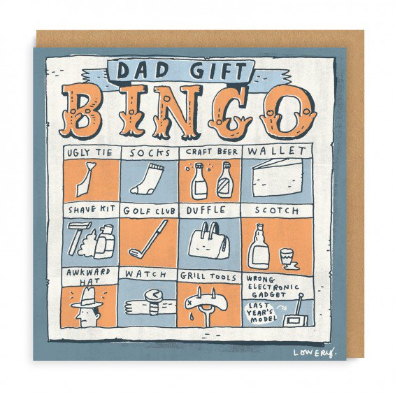 Dad Gifts Bingo Greeting Card
