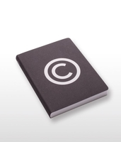 Copyright Black Large Notebook