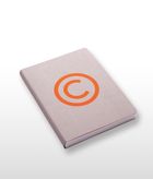 Copyright Orange Notebook Large