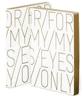 For My Eyes Only Large Notebook