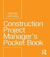Construction Project Manager's Pocket...