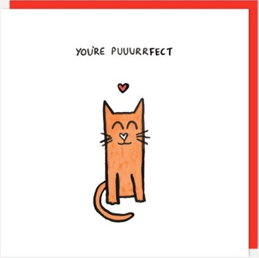 You're Puuurrfect Greeting Card