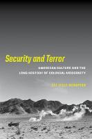 Security and Terror: American Culture...