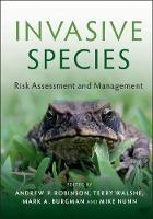Invasive Species: Risk Assessment and...