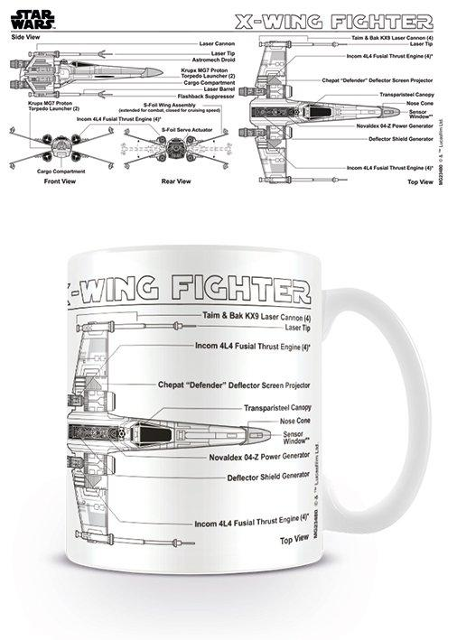 X-Wing Fighter Sketch Mug