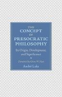 The Concept of Presocratic ...