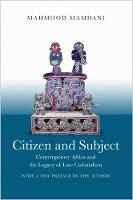 Citizen and Subject: Contemporary...