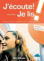 J'ecoute! Je Lis!: Students CD