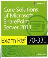 Core Solutions of Microsoft ...
