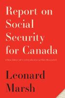 Report on Social Security for Canada:...