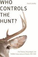 Who Controls the Hunt?: First ...