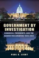 Government by Investigation: ...