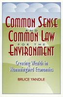 Common Sense and Common Law for the...