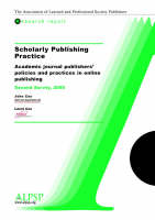 Scholarly Publishing Practice, Second...