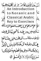 Introduction to Koranic & Classical...
