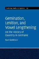 Gemination, Lenition, and Vowel...