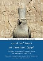 Land and Taxes in Ptolemaic Egypt: An...