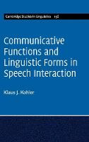Communicative Functions and ...