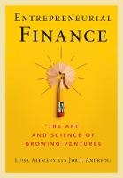Entrepreneurial Finance: The Art and...