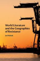 World Literature and the Geographies...