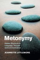 Metonymy: Hidden Shortcuts in...