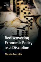 Rediscovering Economic Policy as a...